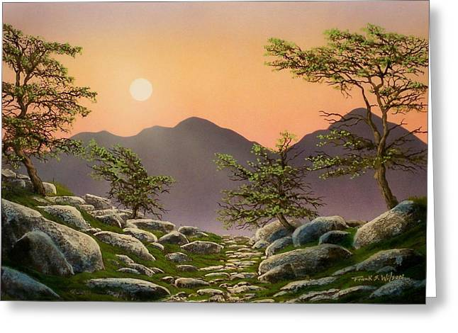 Evening Moonrise Greeting Card by Frank Wilson