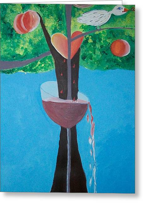 Tree Roots Paintings Greeting Cards - Everlasting Greeting Card by Alexandra Torres