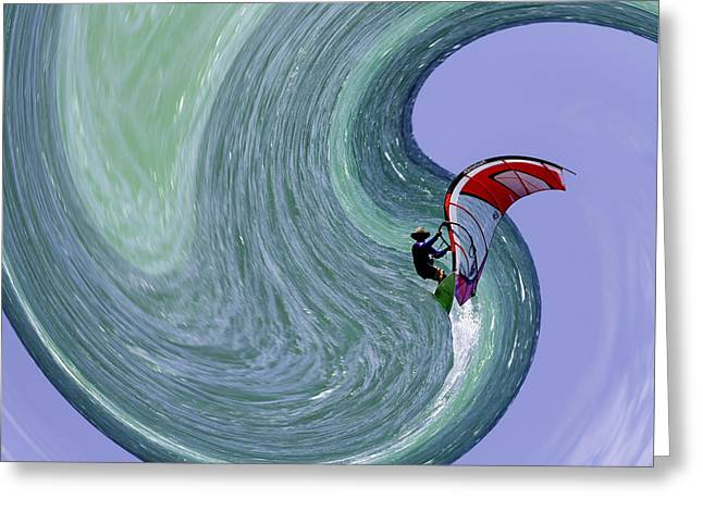 Sailboarding Greeting Cards - Exhilaration Greeting Card by John Bailey