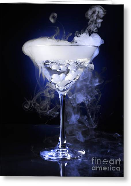 Mysterious Greeting Card featuring the photograph Exotic Drink by Oleksiy Maksymenko
