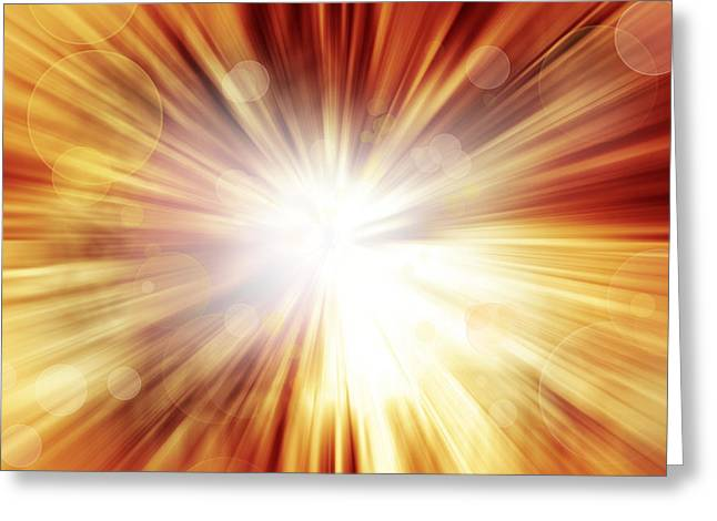 Blast Greeting Cards - Explosive background  Greeting Card by Les Cunliffe