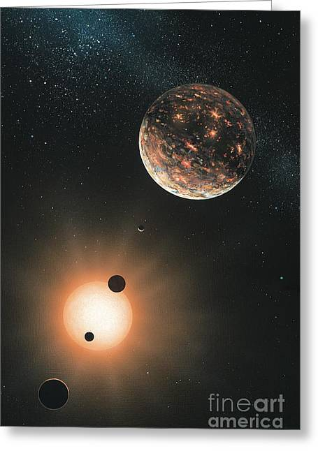 Extrasolar Planet Greeting Cards - Extrasolar Planets, Artwork Greeting Card by Richard Bizley