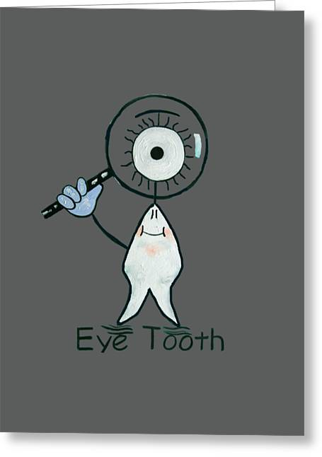 Shirt Digital Greeting Cards - Eye Tooth Greeting Card by Anthony Falbo