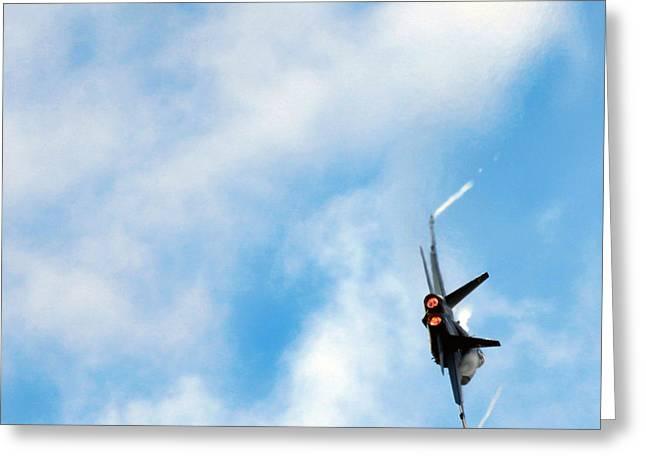 Superhornet Greeting Cards - F-18 Superhornet Greeting Card by Angel  Tarantella