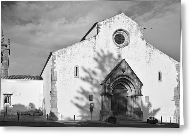 Medieval Greeting Cards - Facade of Matriz Church in Loule Greeting Card by Angelo DeVal