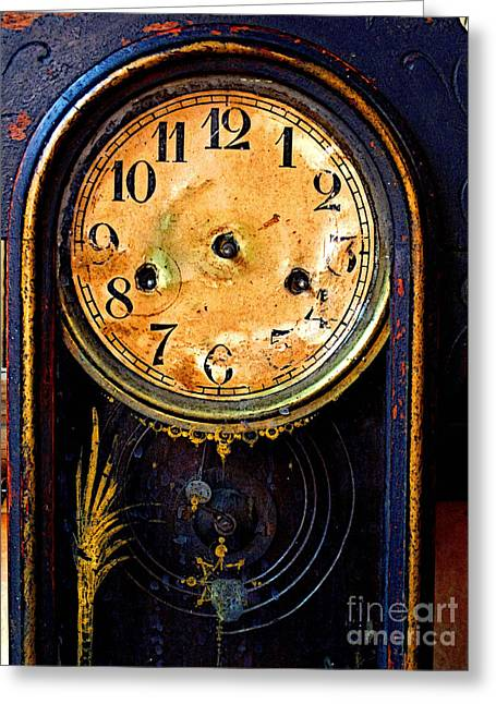 Guadalajara Greeting Cards - Face of Time Greeting Card by Olden Mexico