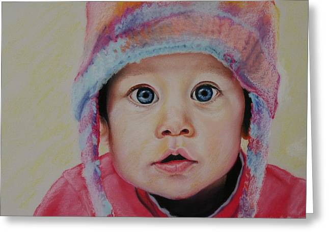 Award Pastels Greeting Cards - Faith Greeting Card by Gayle  George