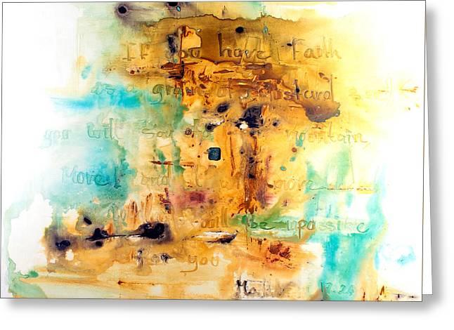 Faith Like A Mustard Seed Greeting Card by Ivan Guaderrama