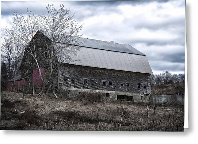 Maine Farms Greeting Cards - Faithful Old Barn Greeting Card by Richard Bean