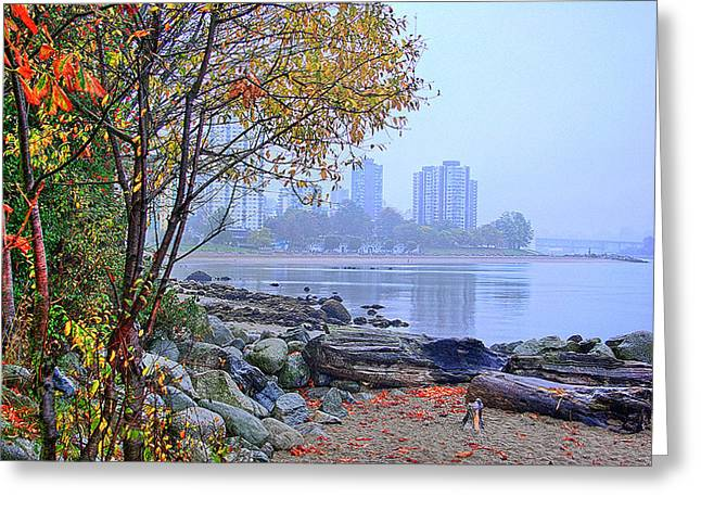 Stanley Park Greeting Cards - Fall at Stanley Park Greeting Card by Dale Stillman