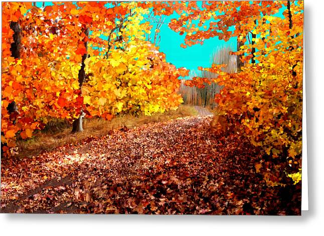 Harvest Art Greeting Cards - Fall is Here Greeting Card by Bruce Nutting