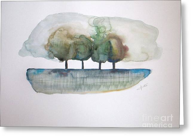 Family Trees Greeting Card by Vesna Antic