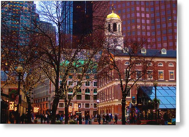 Faneuil Hall Greeting Cards - Faneuil Hall  Greeting Card by Joann Vitali