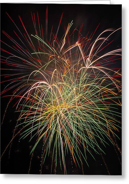 Fantastic Fireworks Greeting Card by Garry Gay