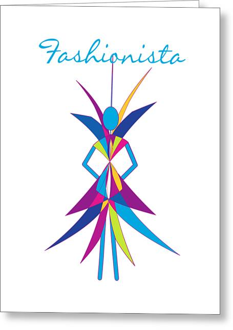 Fashionista Greeting Cards - Fashionista Greeting Card by Methune Hively