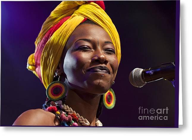 ist Photographs Greeting Cards - Fatoumata Diawara at North Sea Jazz Festival 2012 Greeting Card by Liz Prine