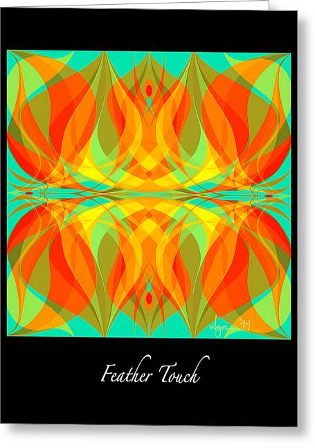 Survivor Art Greeting Cards - Feather Touch Greeting Card by Angela Treat Lyon