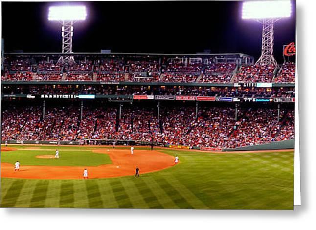 Boston Red Sox Greeting Cards - Fenway Park Boston 0478 Greeting Card by Jeff Stallard