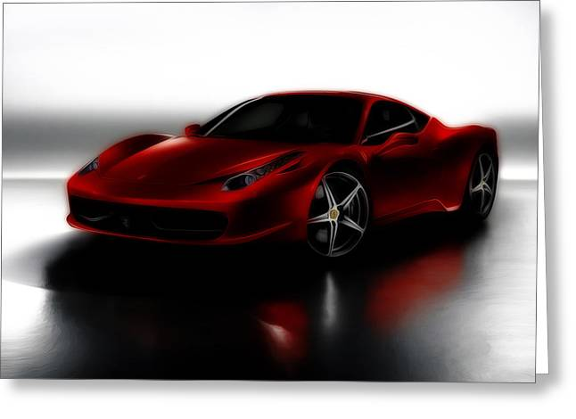 Recently Sold -  - French Open Mixed Media Greeting Cards - Ferrari 458 Greeting Card by Brian Reaves