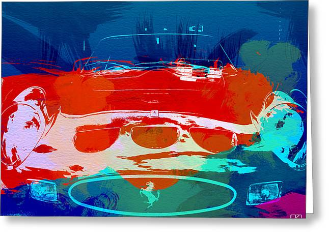 Power Digital Art Greeting Cards - Ferrari GTO Greeting Card by Naxart Studio