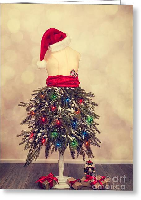 Festive Christmas Mannequin Greeting Card by Amanda And Christopher Elwell