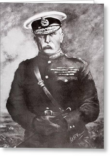 Ypres Greeting Cards - Field Marshal John Denton Pinkstone Greeting Card by Vintage Design Pics