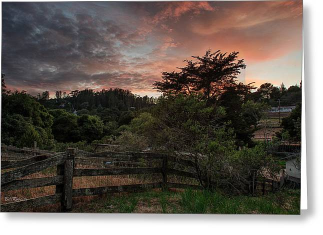 Fiery Sky Greeting Card by Bill Roberts