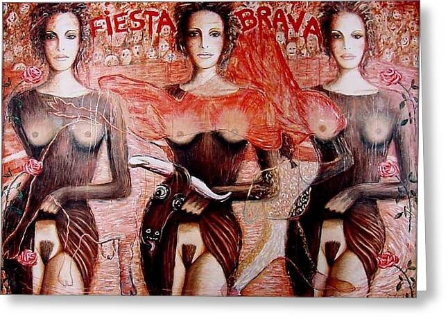 Applause Greeting Cards - Fiesta Brava  Greeting Card by Daniel Gomez