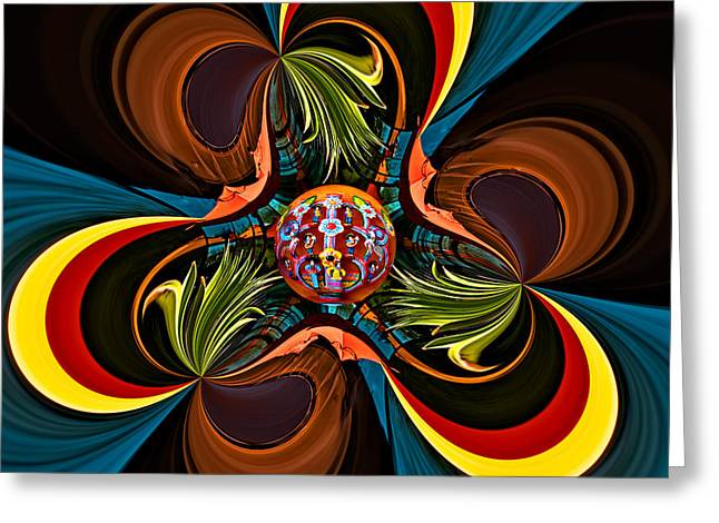 Fiesta Greeting Card by Maria Coulson