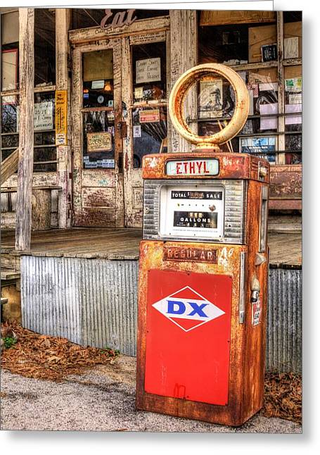 Filler Up Greeting Card by JC Findley