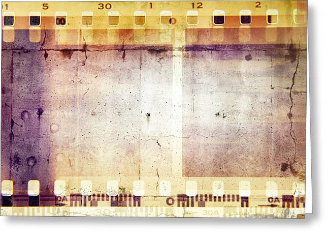 Filmstrip Greeting Cards - Film frames  Greeting Card by Les Cunliffe