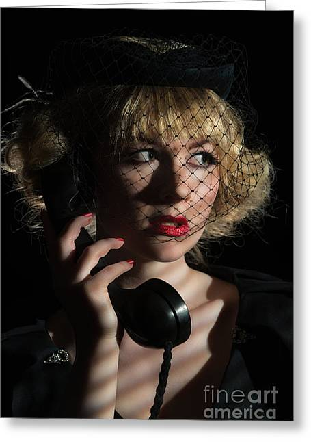 Film Noir Greeting Card by Amanda And Christopher Elwell