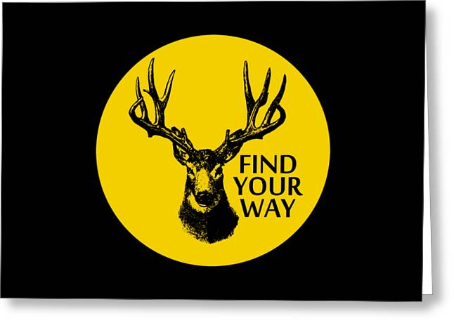Find Your Way Greeting Card by Magdalena Raszewska