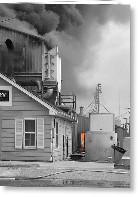 Burning Buildings Greeting Cards - Fire Door Greeting Card by Dylan Punke