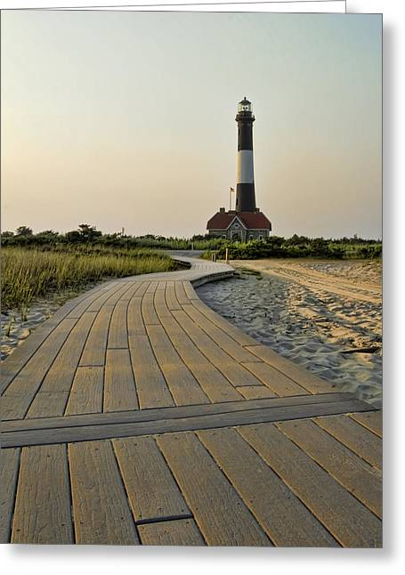 Fire Island Lighthouse Greeting Card by Alexander Mendoza