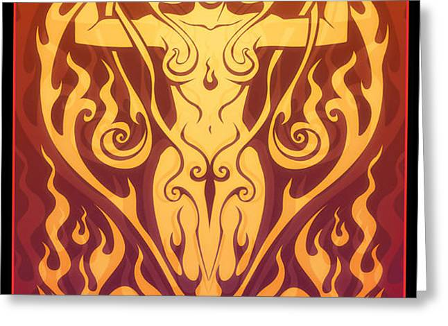 Fire Spirit Greeting Card by Cristina McAllister