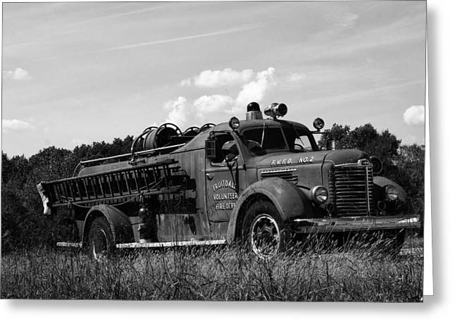 Fire Engines Greeting Cards - Fire Truck 2 Greeting Card by Off The Beaten Path Photography - Andrew Alexander