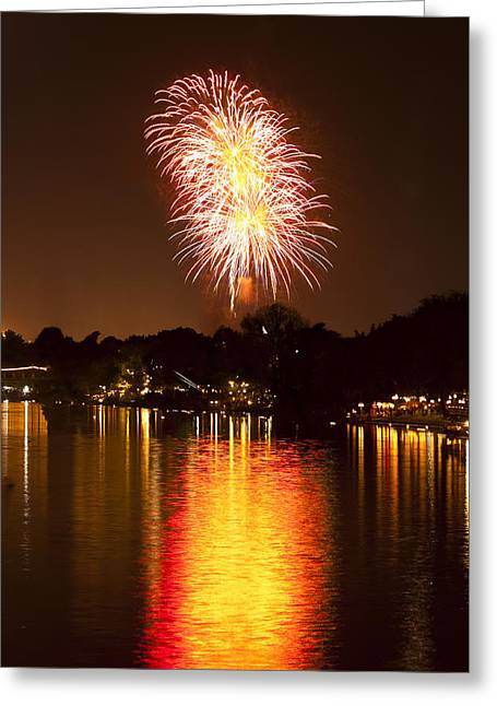 Pyrotechnics Greeting Cards - Firework Greeting Card by Ulrich Schade