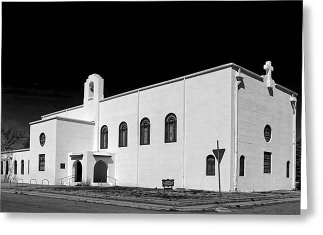 Marfa Texas Greeting Cards - First Christian Church of Marfa Texas Greeting Card by Mountain Dreams