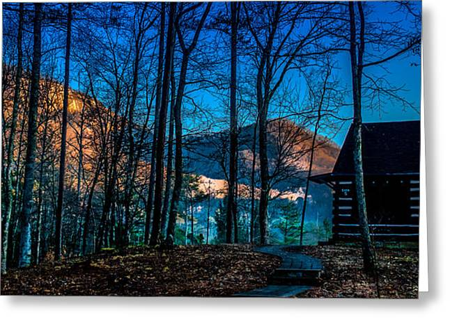 Biological Digital Art Greeting Cards - First Light At Table Rock Mountain Greeting Card by Optical Playground By MP Ray