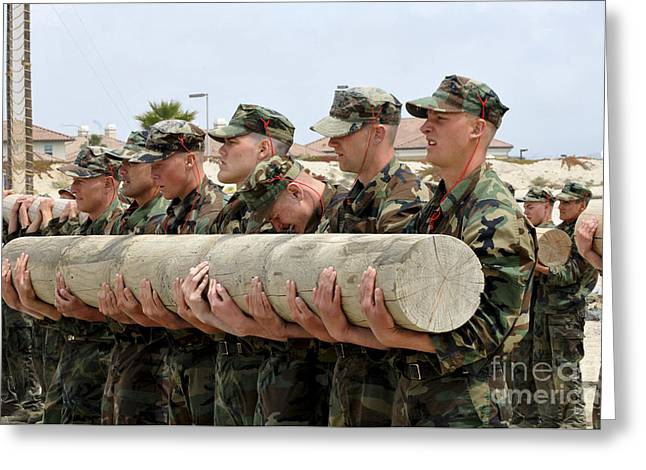 First Phase Buds Students Perform Log Greeting Card by Stocktrek Images