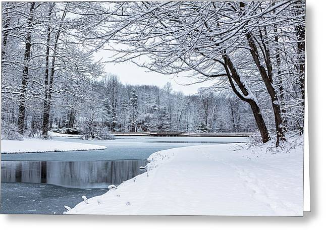 First Snow Greeting Card by Everet Regal