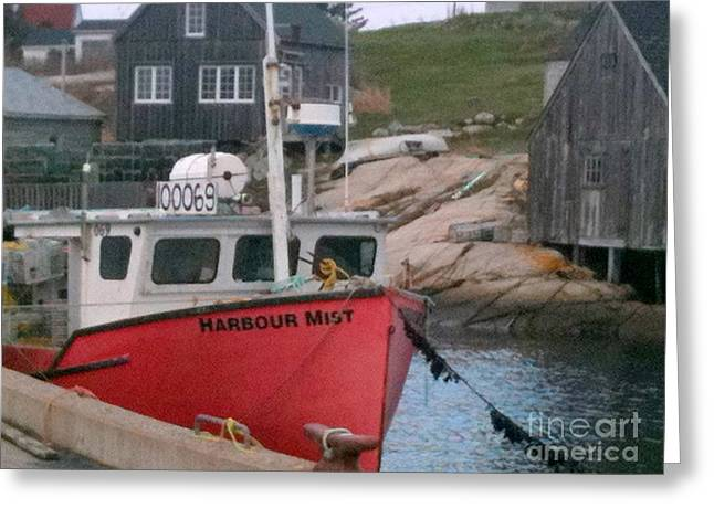 Boat Shed Greeting Cards - Fishing Village Greeting Card by Deborah MacQuarrie