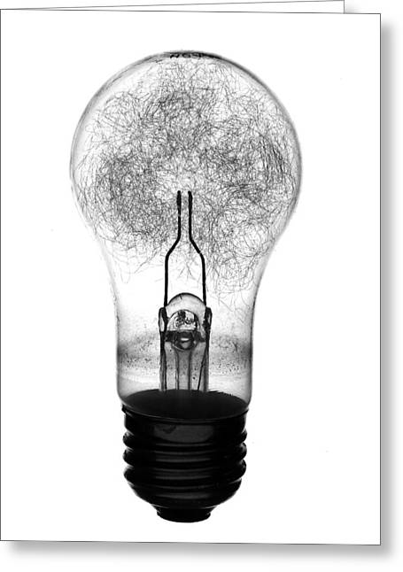 Flash Photography Greeting Cards - Flash Bulb Greeting Card by Mark Wagoner