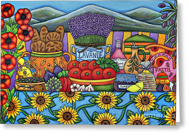Original Pottery Greeting Cards - Flavours of Provence Greeting Card by Lisa  Lorenz