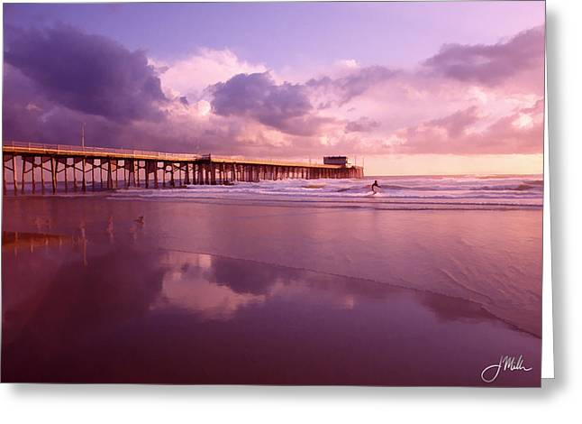 Florida Gold Coast Pier Greeting Card by Joshua Miller