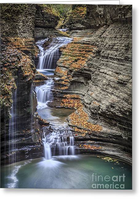 Upstate Greeting Cards - Flow Gently Greeting Card by Evelina Kremsdorf