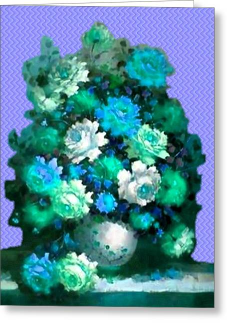 Cellphone Pastels Greeting Cards - Flower Bouquet Catus 1 no. 5 V a Greeting Card by Gert J Rheeders