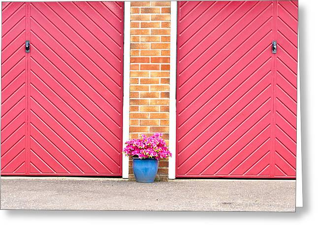 Car Park Greeting Cards - Flower pot Greeting Card by Tom Gowanlock