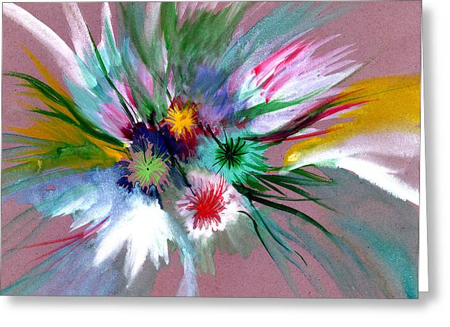 Flowers Greeting Card by Anil Nene